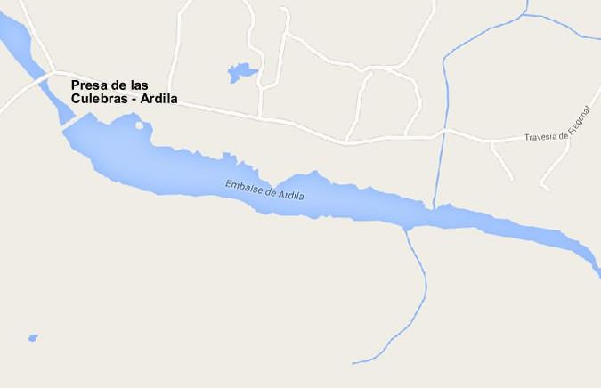 Embalse de las Culebras - Embalse de Ardila - Presa de las Culebras - Presa de Ardila - Pantano de Ardila - Pantano de las Culebras - Valencia del Ventoso - Cuenca del Guadiana