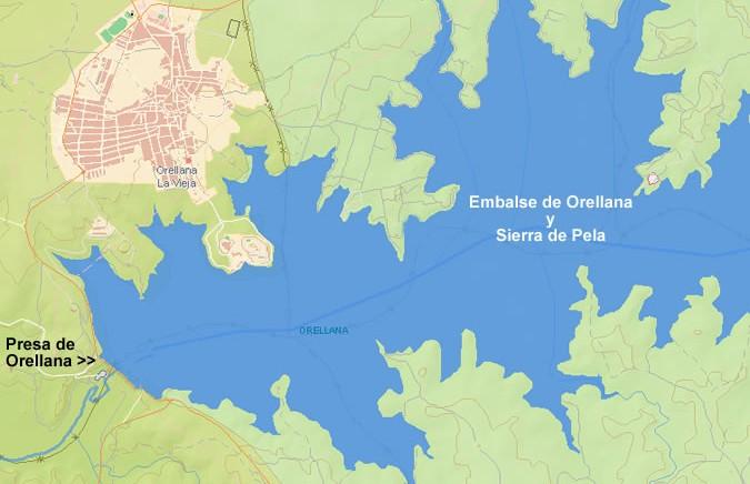 Embalse de Orellana y Sierra de Pela, Embalse de Orellana, Pantano de Orellana, Presa de Orellana, Orellana la Vieja, Cuenca del Guadiana