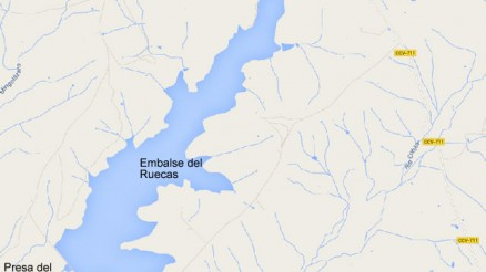 Presa del Embalse de Ruecas, Logrosan, Cuenca Hidrográfica del Guadiana, Cáceres, Extremadura - Ruecas Gravity Dam