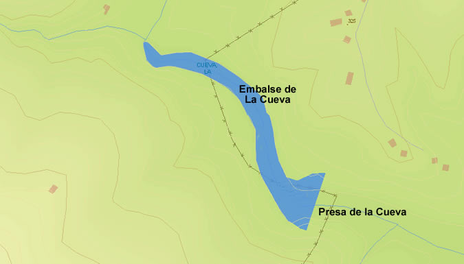 Presa del Embalse de la Cueva - Comares - Dam and Reservoir