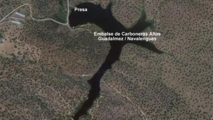 Presa de Carboneras Altas, Embalse de Carboneras Altas, Guadalmez, Embalse de Navalenguas - Pantano - Torrecampo
