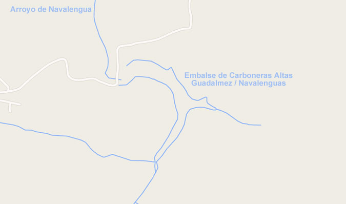 Presa de Carboneras Altas - Guadalmez - Navalenguas - Embalse de Carboneras Altas - Pantano