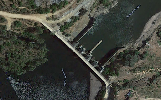 Presa de Guillena - Embalse de Guillena - Contraembalse de Guillena - Pantano de Guillena - Dam - Reservoir