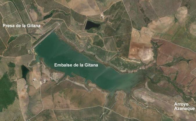 Presa de la Gitana - Embalse de la Gitana - Balsa de la Gitana - Bajo Guadalquivir