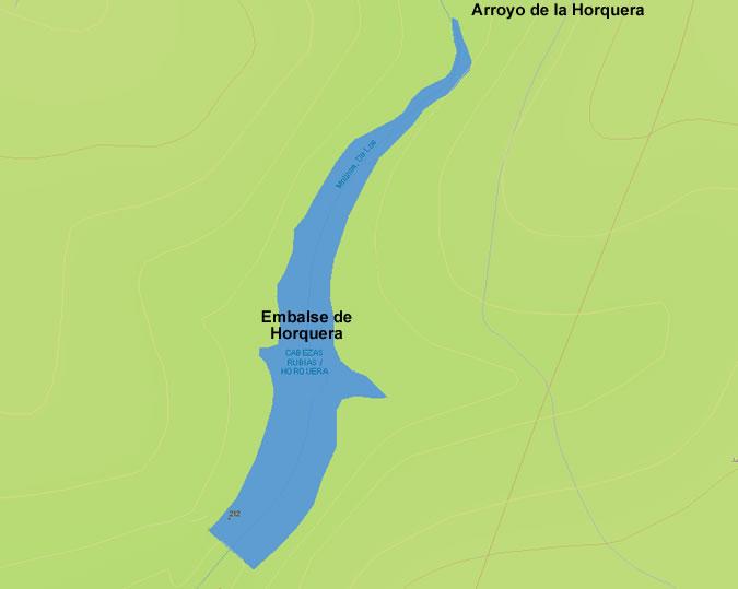 Presa de la Horquera - Embalse de la Horquera - Pantano de la Horquera - Cabezas Rubias