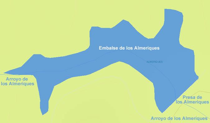 Presa de los Almeriques - Embalse de los Almeriques - Pantano de los Almeriques - Medina Sidonai