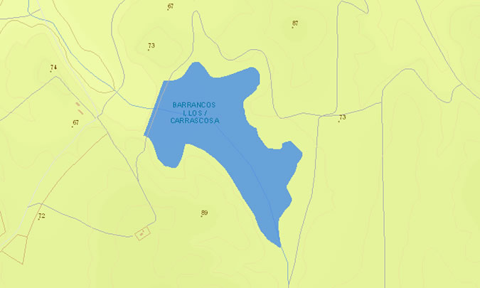 Presa de los Barrancos I - Embalse de los Barrancos I - Embalse de Carrascosa - Embalse de los Barrancos Altos - Puerto Real