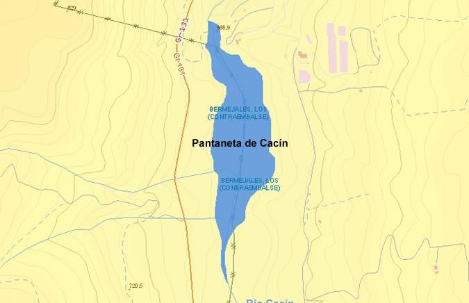 Presa de los Bermejales - Contraembalse de los Bermejales - Pantaneta de Cacín - Dam