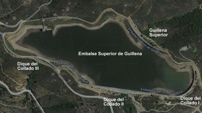 Superior de Guillena Dam and Reservoir