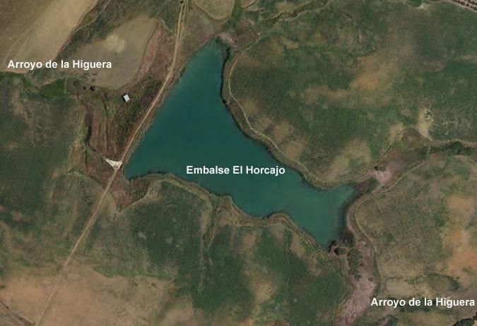 Presa El Horcajo - Presa del Horcajo - Carmona - Embalse El Horcajo - Pantano El Horcajo