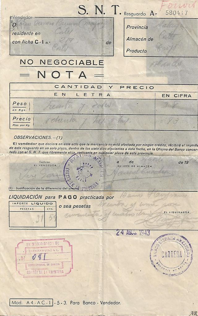 cortes-de-la-frontera-albaran-1943
