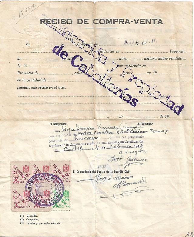 Certificación y Propiedad de Caballerías