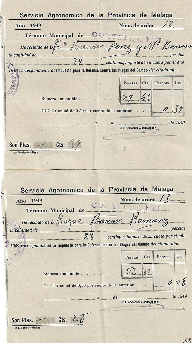 Impuesto para la Defensa contra las Plagas del Campo - Servicio Agronómico de la Provincia de Málaga