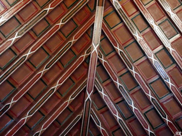 Salón de Sesiones con artesonado mudéjar.