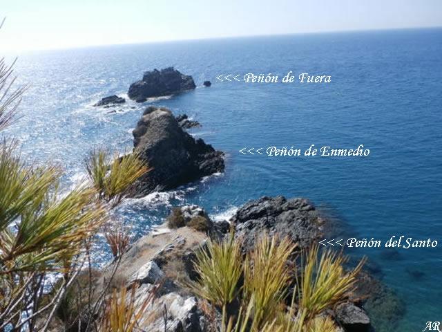 Peñones de San Cristóbal - Peñón del Santo - Peñón de Enmedio y Peñón de Fuera - Almuñécar