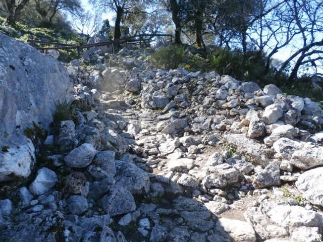 Calzada romana - Yacimiento de Ocvri
