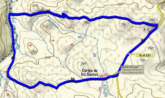 Sendero Los Santos - Martín Gómez SL-A 231 - La Puebla de Cazalla