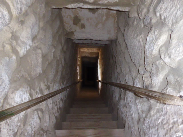 Escaleras de la Torre del Homenaje del Castillo de Gigonza