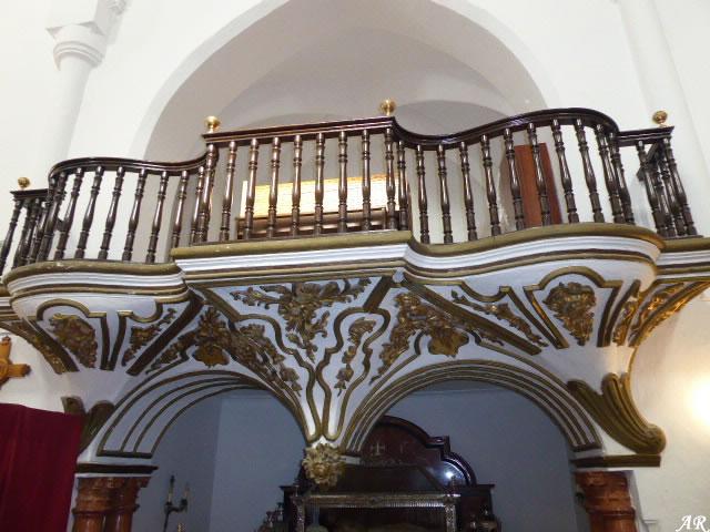 Lugar destinado para el órgano en la Iglesia de Nuestra Señora de la Encarnación