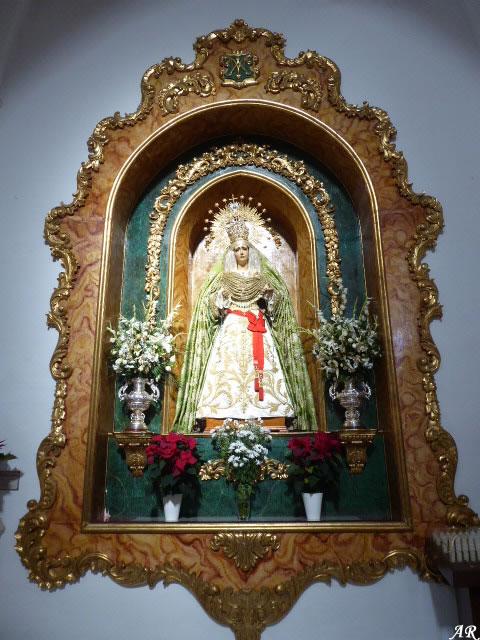 María Santísima de la Esperanza. Imagen realizada en 1952 por el imaginero granadino Don Antonio Martínez Olalla