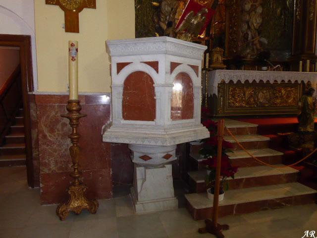 Púlpito del la Santuario de Nuestra Señora de la Cabeza
