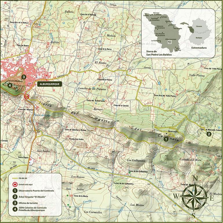 Sierra de Santa Lucía PR-BA 99 - Alburquerque